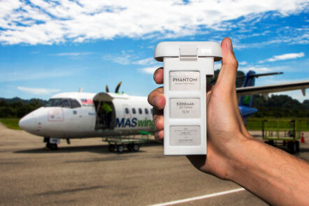 drones lipo batteries on airplane