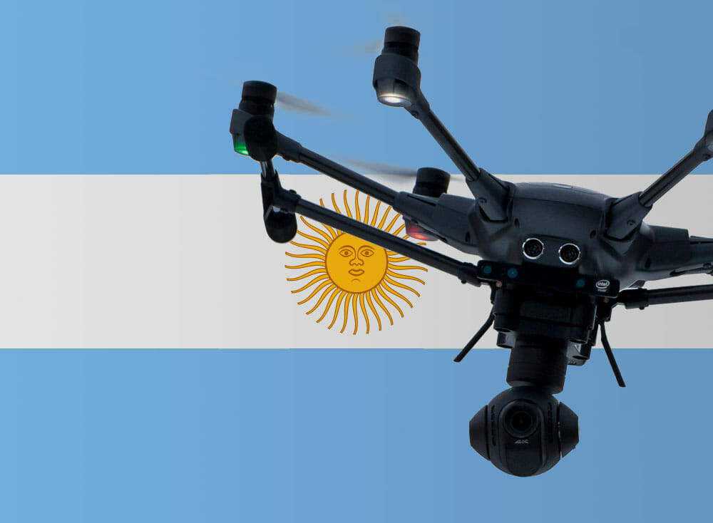 Flying drones in Argentina