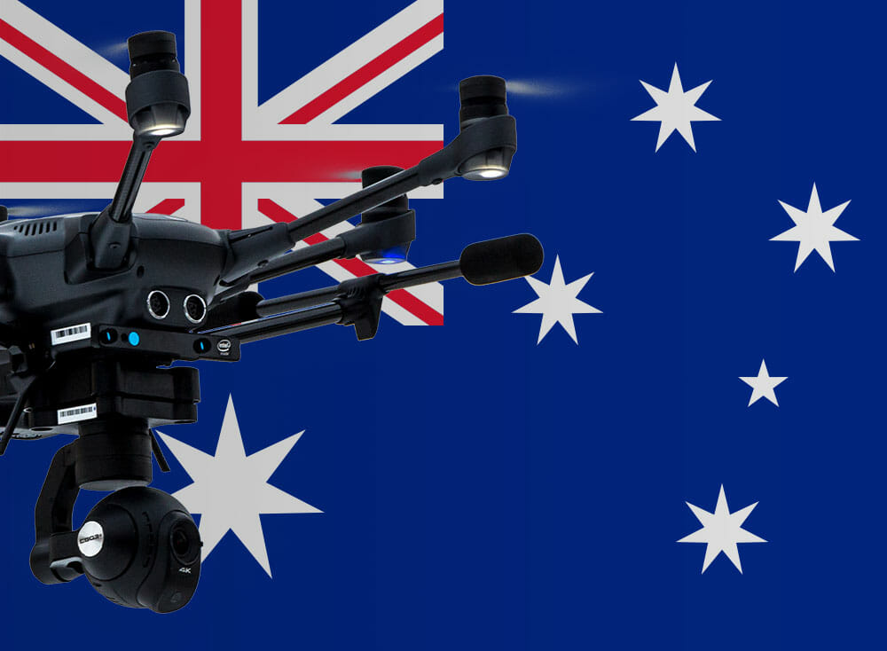 Flying drones in Australia