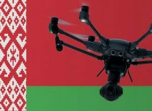 Flying drones in Belarus