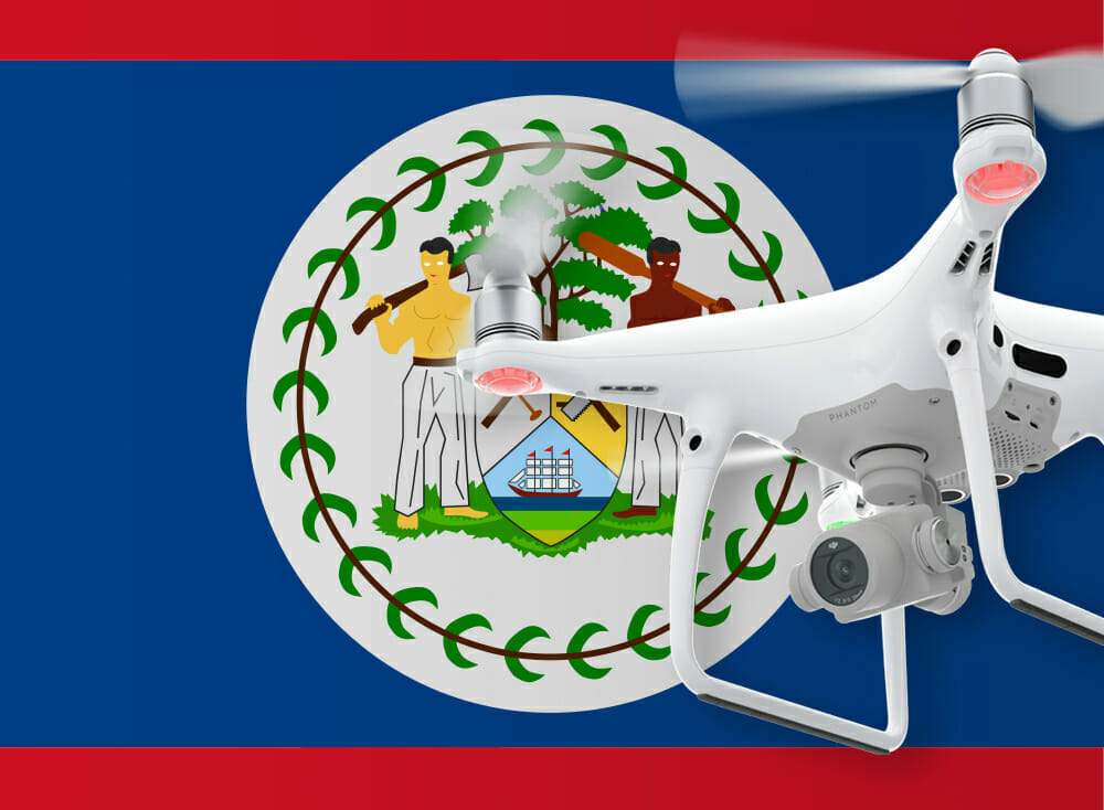 Flying drones in Belize