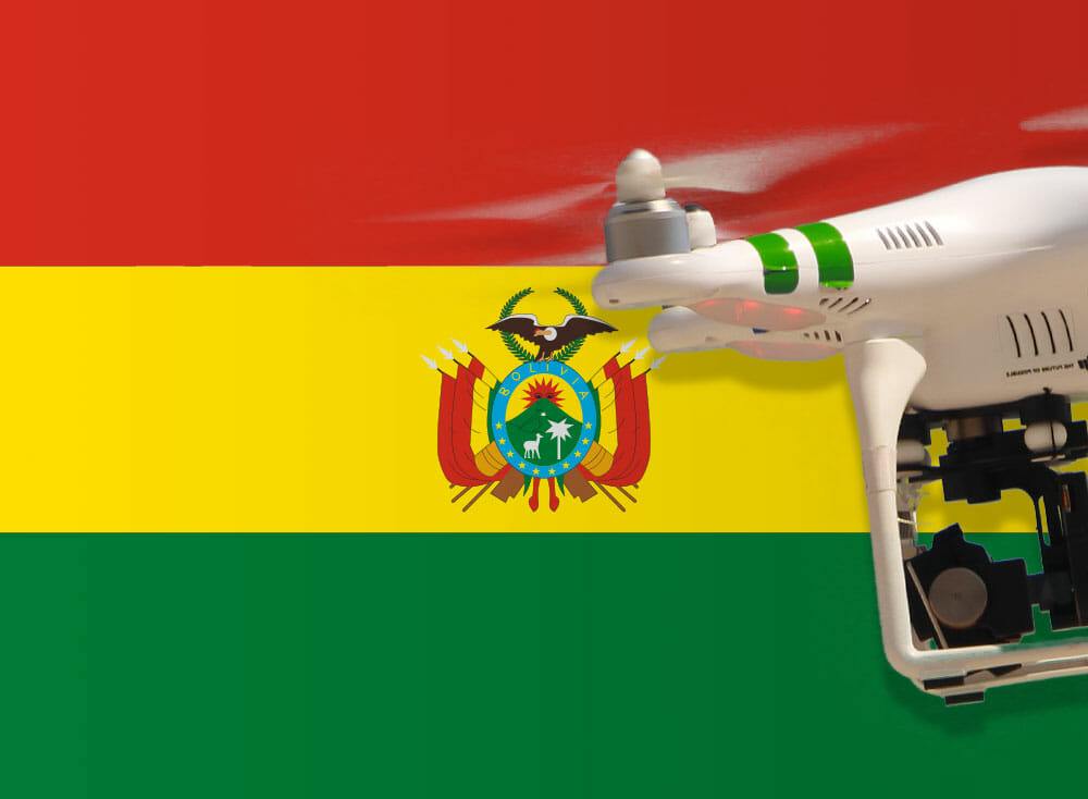 Flying drones in Bolivia