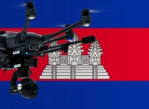 Flying drones in Cambodia