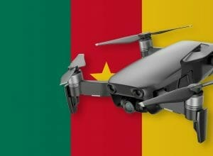 Flying drones in Cameroon