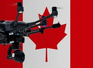 Flying drones in Canada