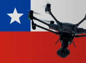 Flying drones in Chile