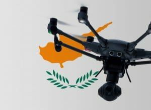 Flying Drone in Cyprus
