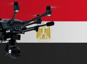 Flying drones in Egypt