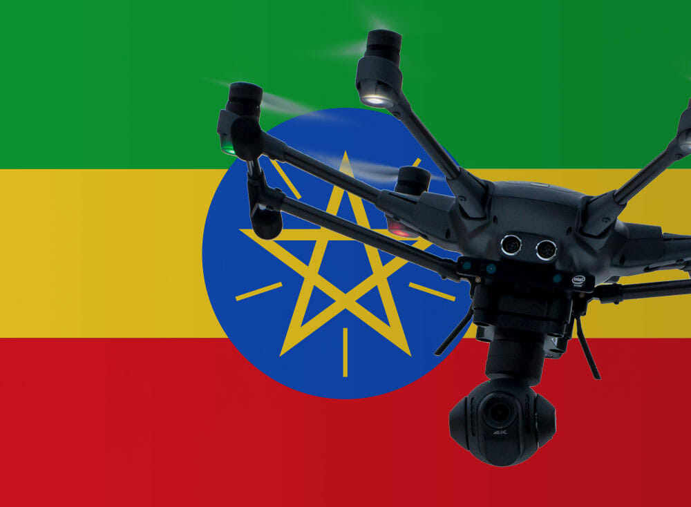 Flying drones in Ethiopia