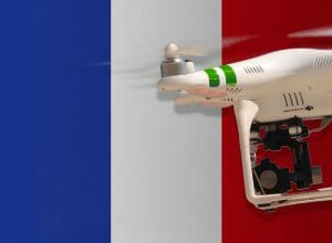 Flying drones in France