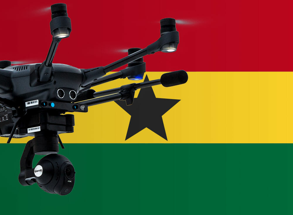Flying drones in Ghana