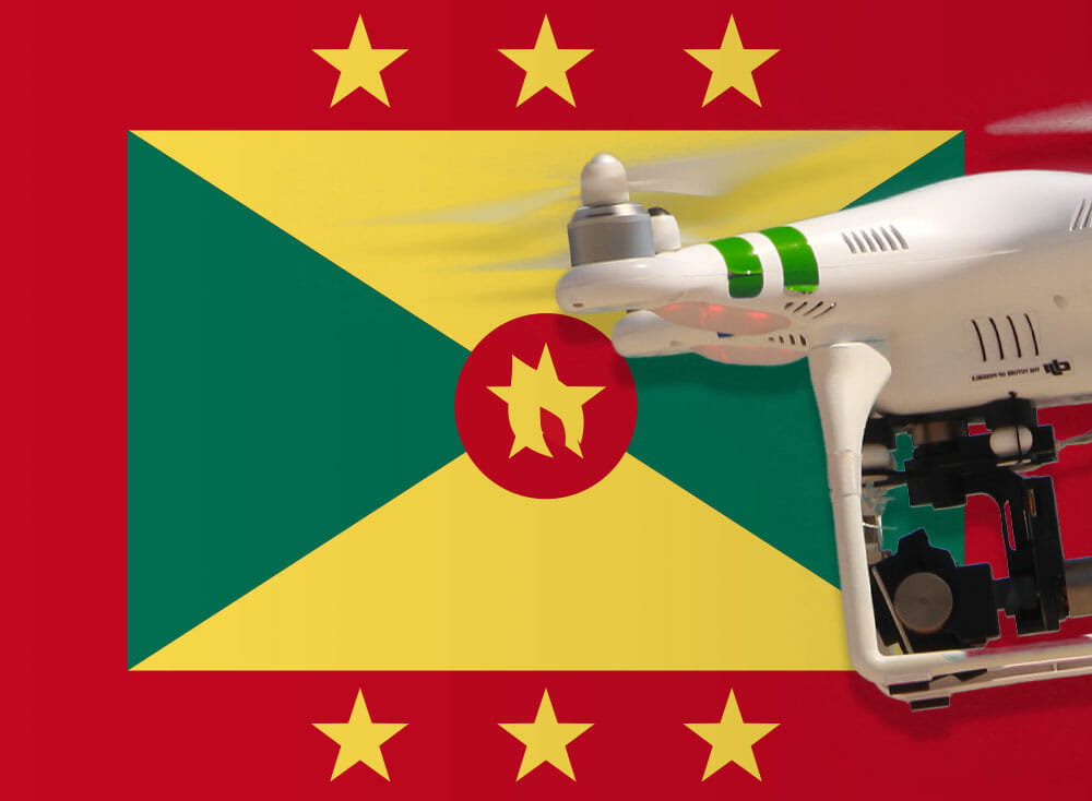 Flying a drone in Grenada