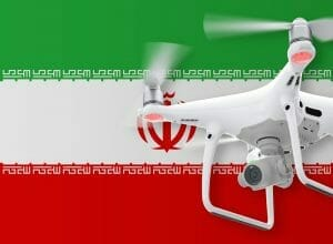 Flying drones in Iran