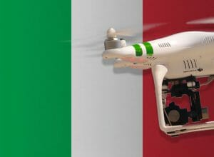 Flying drones in Italy