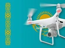 Flying drones in Kazakhstan
