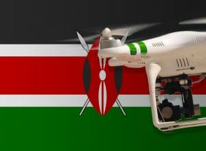 Flying drones in Kenya