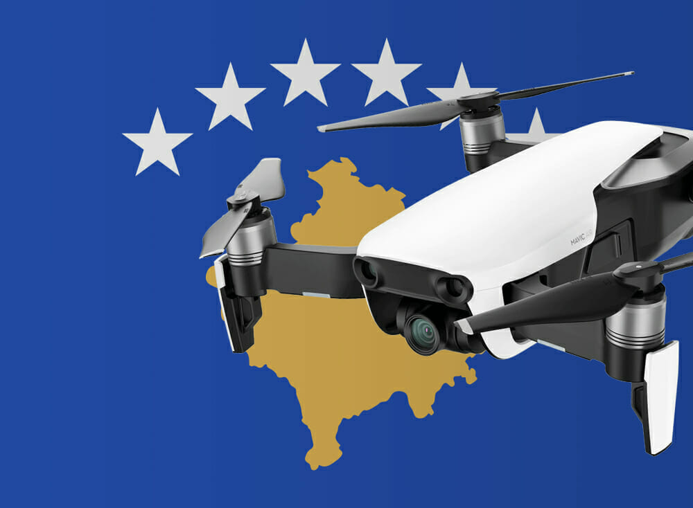 Flying drones in Kosovo