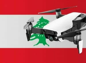 Flying drones in Lebanon