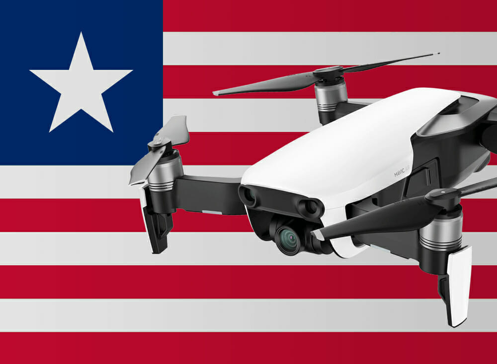 Flying drones in Liberia