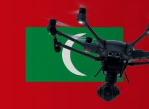 Flying drones in the Maldives