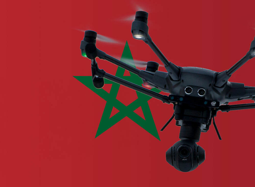 Flying drones in Morocco