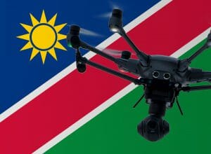 Flying drones in Namibia