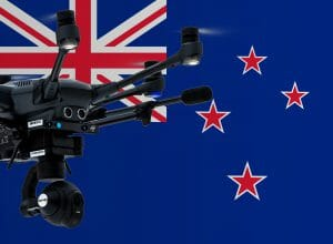 Flying drones in New Zealand