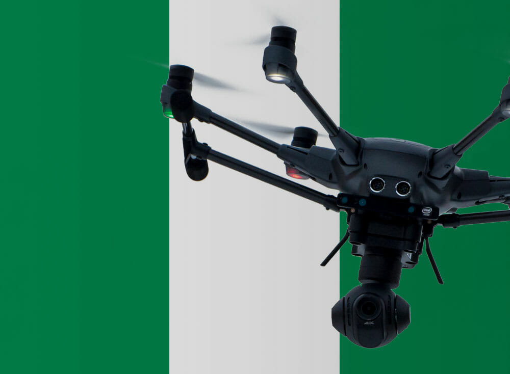 Flying drones in Nigeria