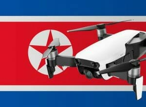 Flying drones in North Korea