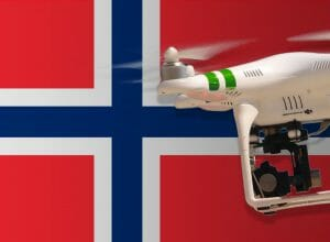 Flying drones in Norway