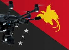 Flying drones in Papua New Guinea