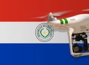 Flying drones in Paraguay