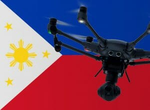 Flying drones in the Philippines