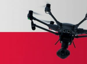 Flying drones in Poland