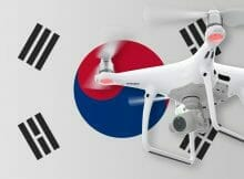 Flying drones in South Korea