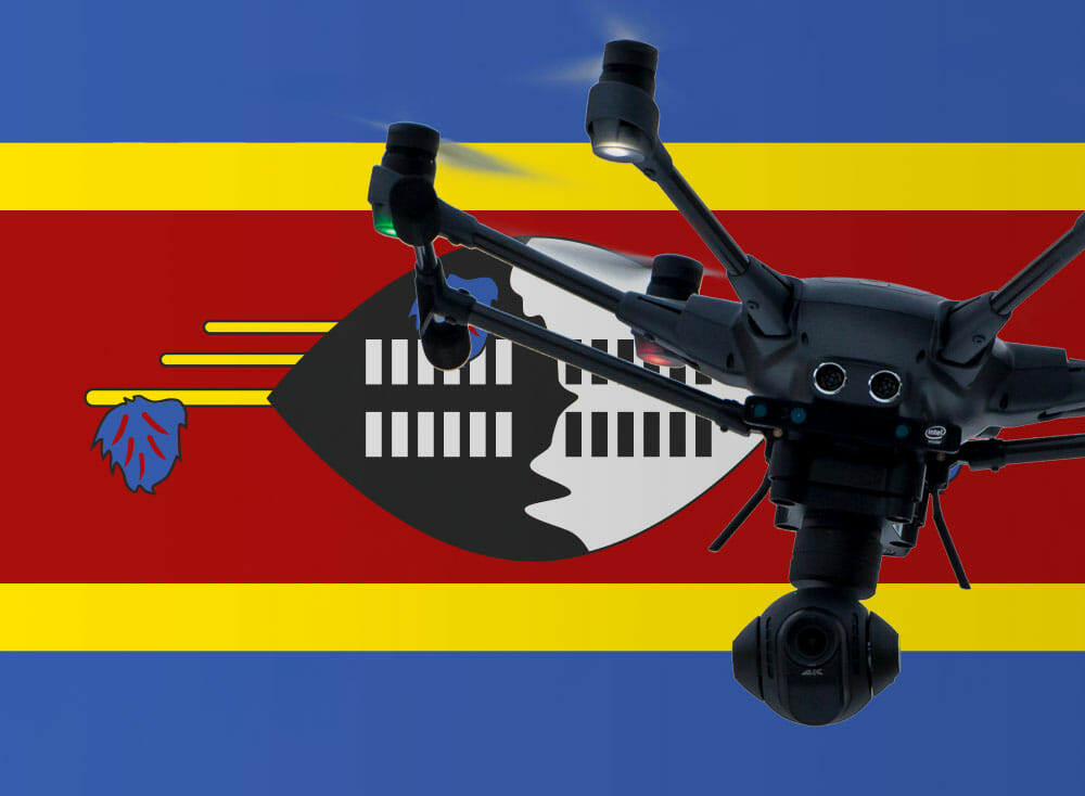 Flying drones in Swaziland