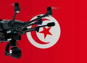 Flying drones in Tunisia