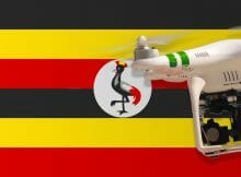 Flying drones in Uganda