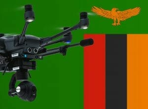Flying drones in Zambia