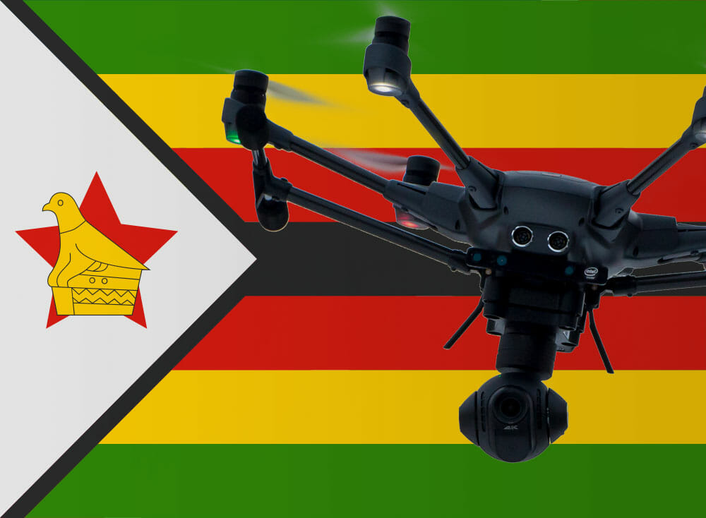 Flying drones in Zimbabwe