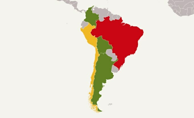 Drone Laws In South America Drone Traveller - No fly zone for drones map