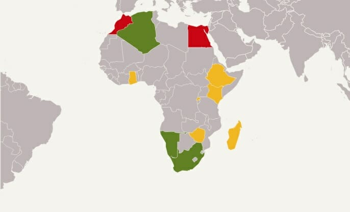 Drone Rules And Laws In Africa Current Information And Experiences - Drone ban map