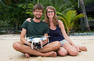 Bina and Francis are the drone travellers